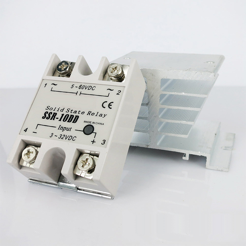 Free shipping , Single Phase 10A DC to DC Solid State Relay SSR 10DD include Heat Sink normally open single phase solid state relay ssr mgr 1 d48120 120a control dc ac 24 480v
