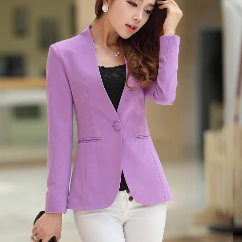 Ol blazer frauen weiblich schlank anzüge candy color mäntel langarm - Damenbekleidung - Foto 4