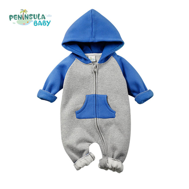 2fbb89c4a Newborn Winter Rompers 2016 Cute Toddler Baby Girl Boy Jumpers ...