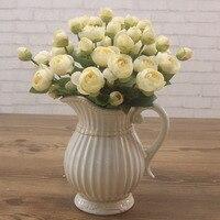 ancient ways ceramic vase Tea table table monaural pot of milk bottles American pastoral country decorative vase white