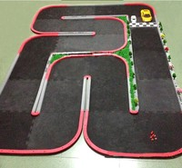 6 Square Meters with Street Lamp Tree Scene Easy To Assemble Toy Car Track Runway Remote Control Car Track