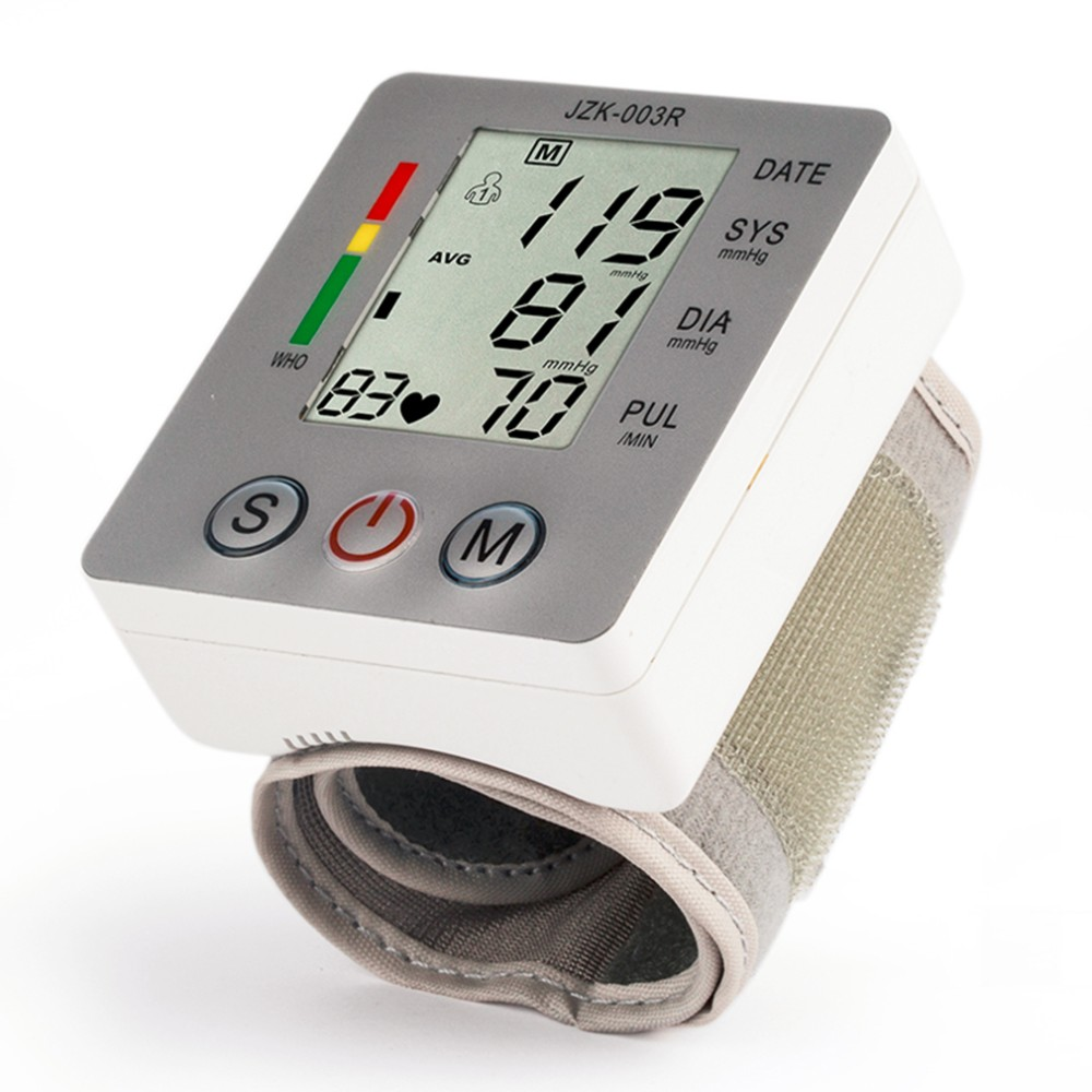 Household Health Care Wrist Blood Pressure Monitor Digital LCD Heart Beat Rate Pulse Meter Automatic Sphygmomanometers tonometer 12