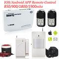 Kervay 433 mhz Sistema de Alarma de la Seguridad Casera de Control Remoto Inalámbrico de Metal IOS Android APP Inteligente Sistema de Alarma Antirrobo GSM de Voz