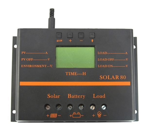 ФОТО 70A LCD Solar Battery Regulator Charge Discharge Controller 12V 24V With USB TLS