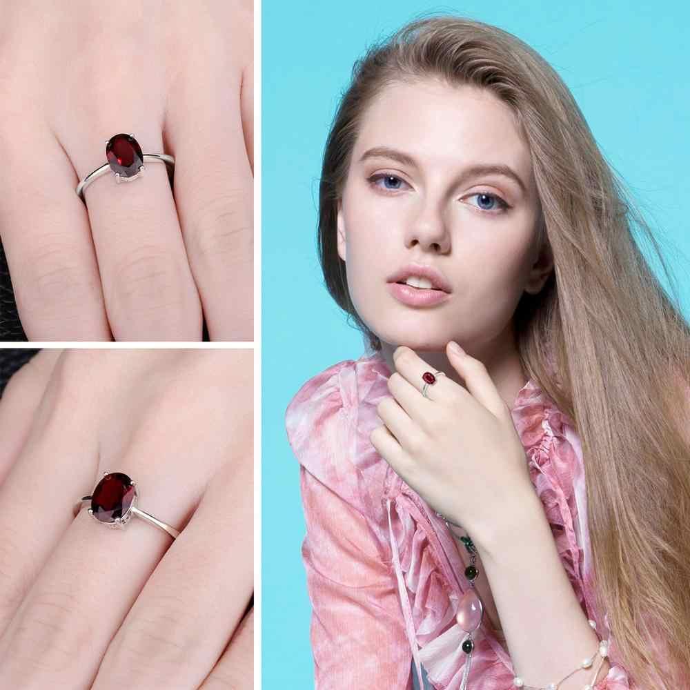 JewelryPalace ของแท้โกเมนแหวน Solitaire 925 เงินสเตอร์ลิงแหวนแหวนหมั้นแหวนเงิน 925 เครื่องประดับอัญมณี