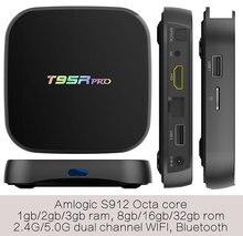 1pcs T95Rpro Amlogic S912 octa core Smart Android7.1 LIVE TV Streaming Box 3GB 32GB MediaHub 1200+ live tv 1000+ VOD