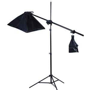 Image 3 - Top Hanger SoftBox set 1pc light stand 1pc light holder 1pc softbox photo equipment softbox kit 4socket arm boost softbox kit
