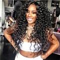 Девы человеческих волос вьющиеся парики для чернокожих женщин необработанные бразильские вьющиеся lace wig детские волосы лучшие человеческие волосы full lace перед парики