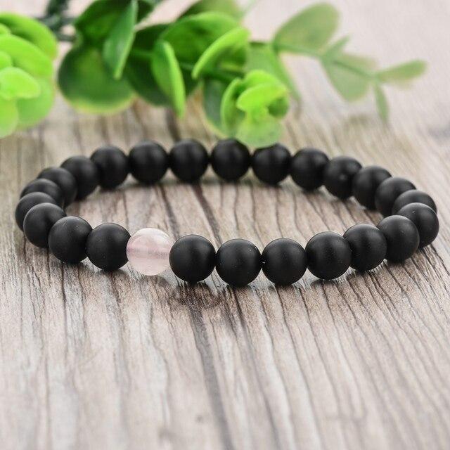 Фото toucheart 8 мм романтические натуральные розовые и черные каменные
