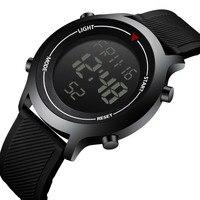 Мужские Цифровые часы светодио дный дисплей водостойкие военные спортивные часы мужские наручные электронные часы резиновый браслет нару...