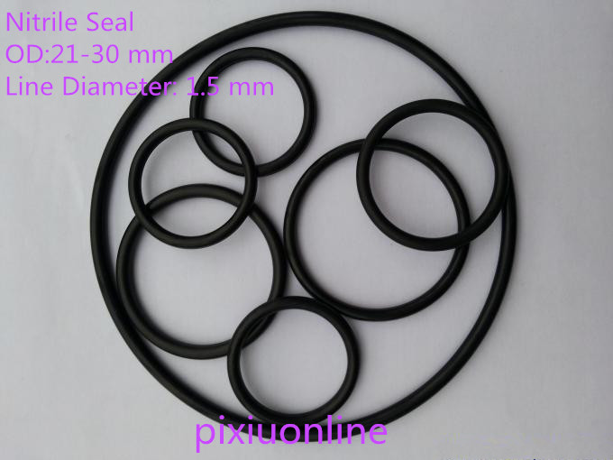 50PCS YT933 Nitrile O-Rings Rubber Gasket/Backup Ring/Joint Ring Nitrile seal OD(21-30 mm)* Line Diameter 1.5 mm NBR metal o rings o ring purse ring connector anti bronze 12 mm 1 2 inch 40pcs u123