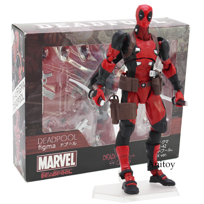 Figma Deadpool DX ver. Non Scale ABS & PVC Action Figure Collectible Model Toy 16cm naruto kakashi hatake action figure sharingan ver kakashi doll pvc action figure collectible model toy 30cm kt3510