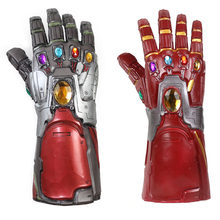 4 Endgame Iron Man Infinity Gauntlet Hulk Cosplay Arm Thanos Latex Handschoenen Armen Masker Marvel Superheld Wapen Party Props(China)