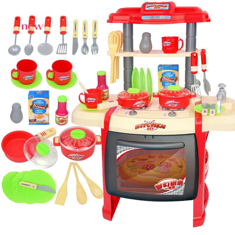Cuisine jouets enfants maison jouets bébé Simulation apporter musique éclairage cuisine articles jouets fille cuisine jouets