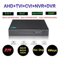1080N 5 In 1 Compatible TVI CVI AHD DVR IP 4CH 8CH 16CH DVR H 264