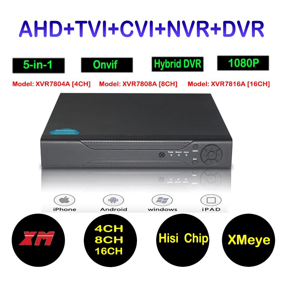 1080N 5 in 1(Compatible TVI,CVI,AHD,DVR,IP) 4CH 8CH 16CH DVR H.264 Security Video Record DVR Standalone CCTV Security System 5 in 1 security cctv dvr 4ch ahd 1080n h 264 hybrid video recorder for ahd tvi cvi analog ip camera onvif hdmi 1080p output