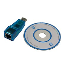 USB 1.1 To LAN RJ45 Ethernet 10/100Mbps Network Card Adapter For Win7 Win8 for Android for Tablet PC Blue