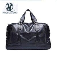 High Quality Waterproof PU Leather Handbag Large Capacity Men Messenger Bags Weekend Holidays Travel Bag Shoulder