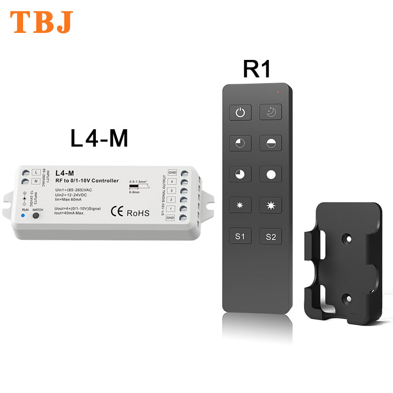 4 Kanal Rf Led Dimmer Controller L4-m Clear-Cut-Textur Mutig Dc0-12v 5 V 2,4 Ghz Rf Wireless Remote R1 Licht & Beleuchtung Dimmer