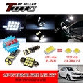 10x LED Car Auto Interior Canbus Dome Map Reading Light White 2835 Chips Kit For VW Golf 6 GTI #108