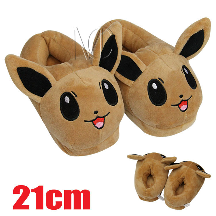 Children Slippers Anime Pokemon Pikachu Eevee Umbreon Pokemon Unisex Cartoon Shoes Home House Casual Plush Slippers 10 Style