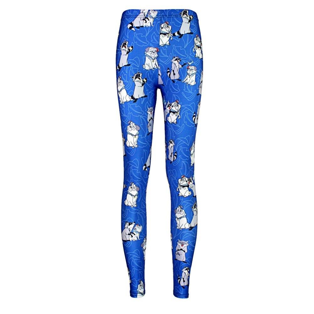 2016 Plus Size 10 Patterns Red Fox Printing Running Pants Jellyfish Fishscale Printing Purple Blue Sport Punk Leggins