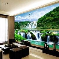 Beibehang özel fotoğraf mural 3d duvar kağıdı duvarlar için 3 d hd vinç Falls doğal güzellik peyzaj 3d büyük duvar kağıtları ev dekor