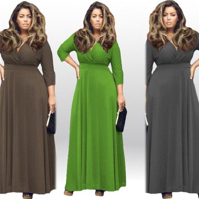 fa254fb129 Plus Size Vestido de Inverno Mulheres Outono Big Size Casual Sexy Vestido  de festa Vestidos Com