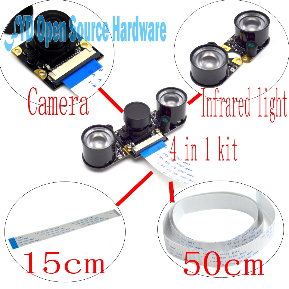 1set Camera Focal Adjustable Night Vision Camera Module for Raspberry Pi 2/3 Model B Raspberry Pi Noir camera ...