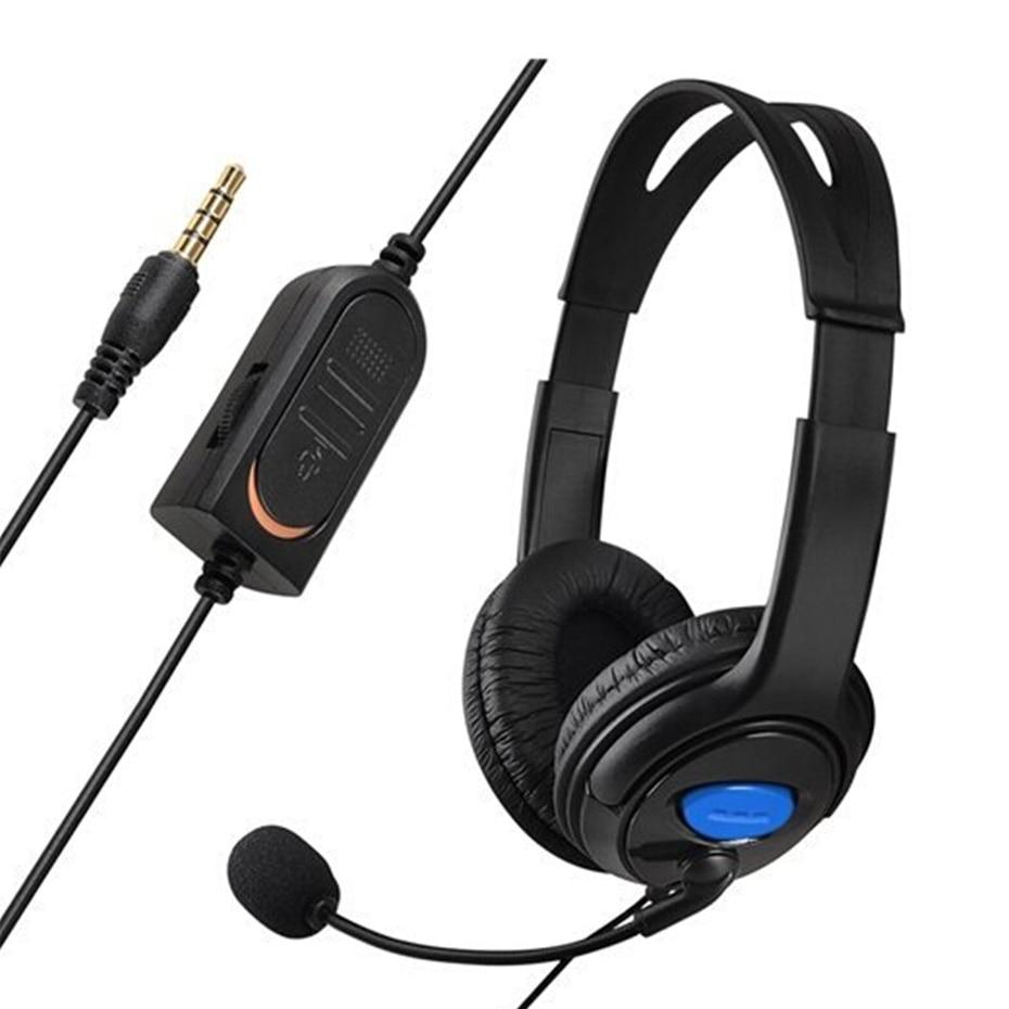 Проводной стерео наушники гарнитура наушники с микрофоном Micphone для Игровые приставки 4 шт. 4 консоли PC Gamer ps 4 Пульты ДУ для игровых приставок