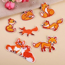 All kinds of style Fox Applique patches animal stickers diy sewing jersey clothing para jacket badges iron on t-shirt accessorie