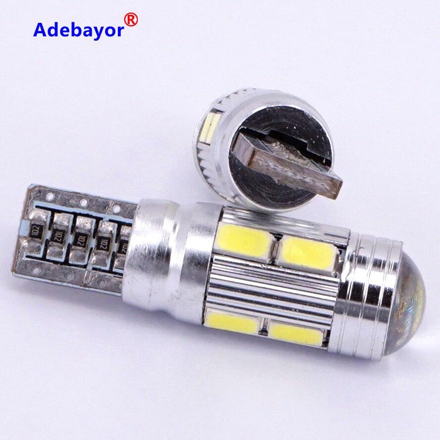 100 шт./лот T10 canbus led 10 SMD 5630 чип 501 W5W 194 безотказный Автомобильный светодиодный индикатор объектива Клин купольная лампа для стайлинга автомоби...
