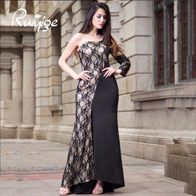 2017 RUIYIGE New Arrival Bodycon Floor-Length Long Club Dew shoulder robe sexy maxi bodycon tunic Boho  Dress vestidos