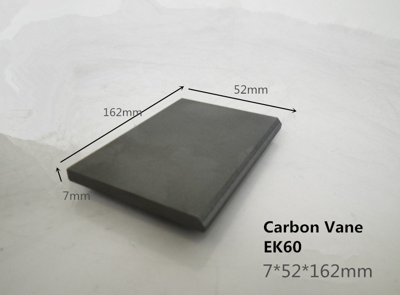 7*52*162mm EK60 graphite vane for Orion Vacuum Pumps KRF 70/ KRA 8/KRH 8 ,carbon graphite sheet for Orion Pump Vanes 6 48 230 mm carbon vane for vacuum pump graphite plate block for vacuum pump becker