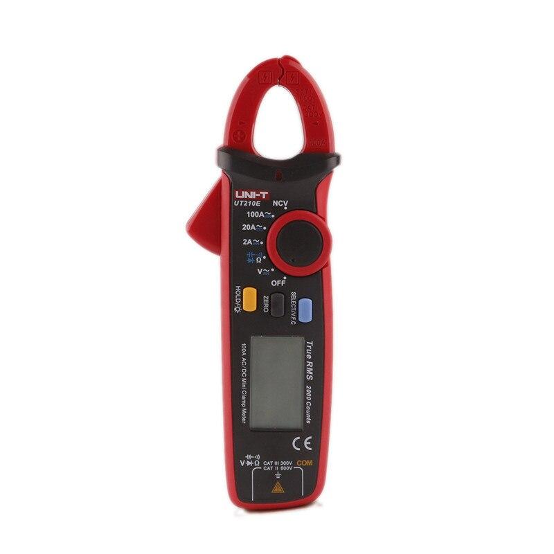 2017 Date UNI-T UT210E mini un multimètre numérique multimètre dc voltimetro amperimertro UNI T UT 210E dc pince multimètre