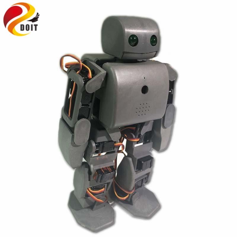 DOIT 18 DOF humanoid Biped Robot Educational Robot Kit Servo Staffa Con 18pcs Servo per la Danza/Lotta da ESP8266 fai da te giocattolo del rc-in Action figure e personaggi giocattolo da Giocattoli e hobby su  Gruppo 3