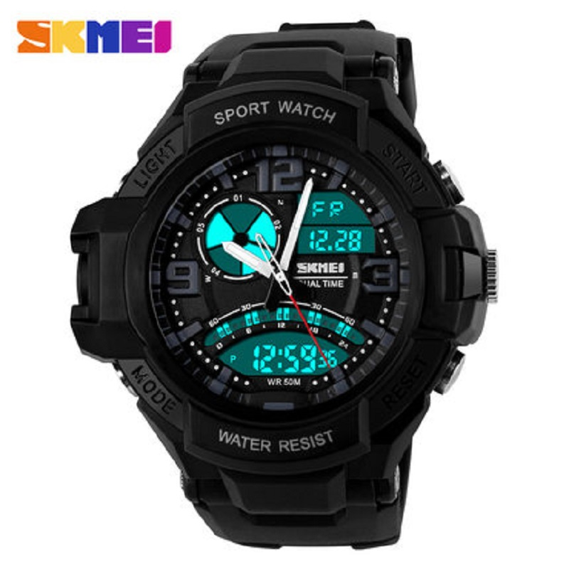 SKMEI S Shock Men Dual Time Military Watch Reloj Hombre LED Men's Quartz Digital Watch Men Sports Watches Relogio Masculino