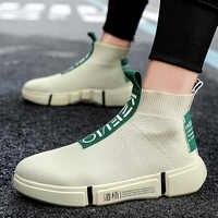 Zapatos casuales altos de moda para Hombre Zapatos transpirables para de plataforma deslizantes informales para Hombre Calcetines para hombre calzado para caminar zapatos 2019