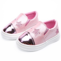 Kids Shoes For Girls Children Casual Shoes Boys Spring Autumn White Sneakers Star Toddler Sequin Flat