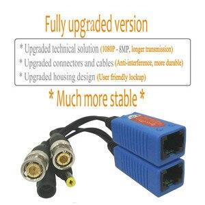 Image 2 - Адаптер Pripaso BNC для RJ45, 4 пары, Пассивный, с питанием, Full HD, 1080P 5MP, камера видеонаблюдения, кабель Ethernet