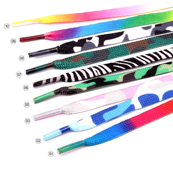 Flat Shoelaces Boots Rainbow color Shoelace Canvas Strings Camping Camouflage Sport Shoes Shoe Lace New Style