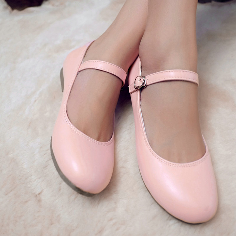 Simple Comfortable Flat Shoes Sweetheart Girl Cute Lolita Princess Shoes  Mary Jane Shoes Spring 2016 New