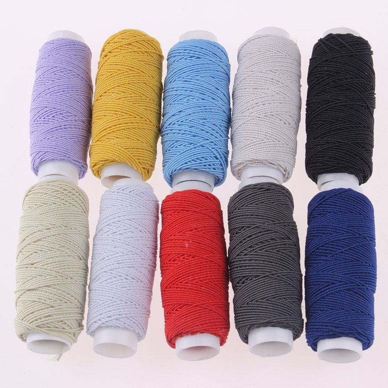 Elastic Thread Set Industrial Sewing Machine Thread Mixed Color Elastic Thread For Bracelets Beading DIY Sewing 10Roll/Set