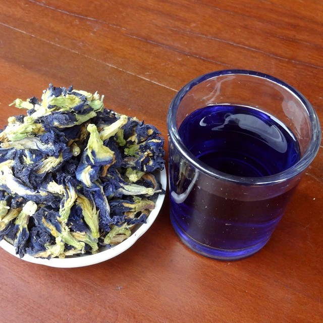 100g.Clitoria Ternatea Tea.thai Blue Butterfly Pea tea.Vitamin A mixed in Coffee green living put in tea infuser