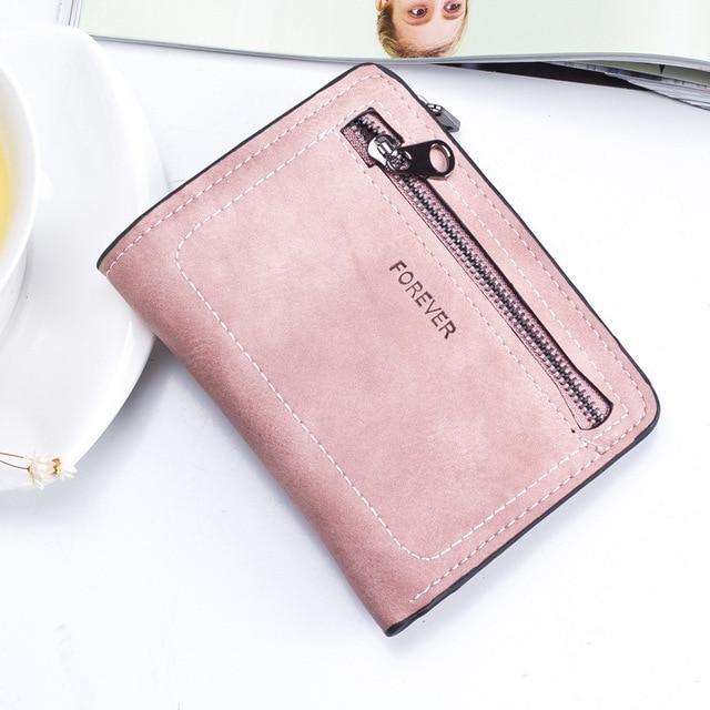 Summer money bag for women short double zipper two fold card holder coin purses travel female wallet Fashion Hot Clutch Carteras