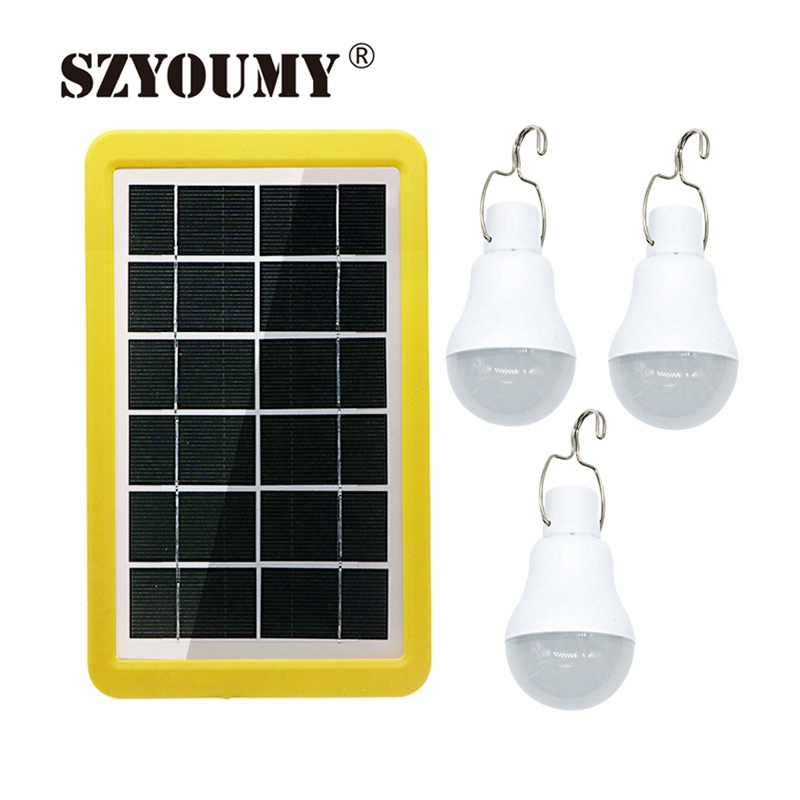 SZYOUMY Solar Power Light 1 to 3 15W Light Control Solar Energy Lamp Portable Led Lamp Lighting Solar Panel Camp Tent Fishing|Solar Lamps| |  - title=