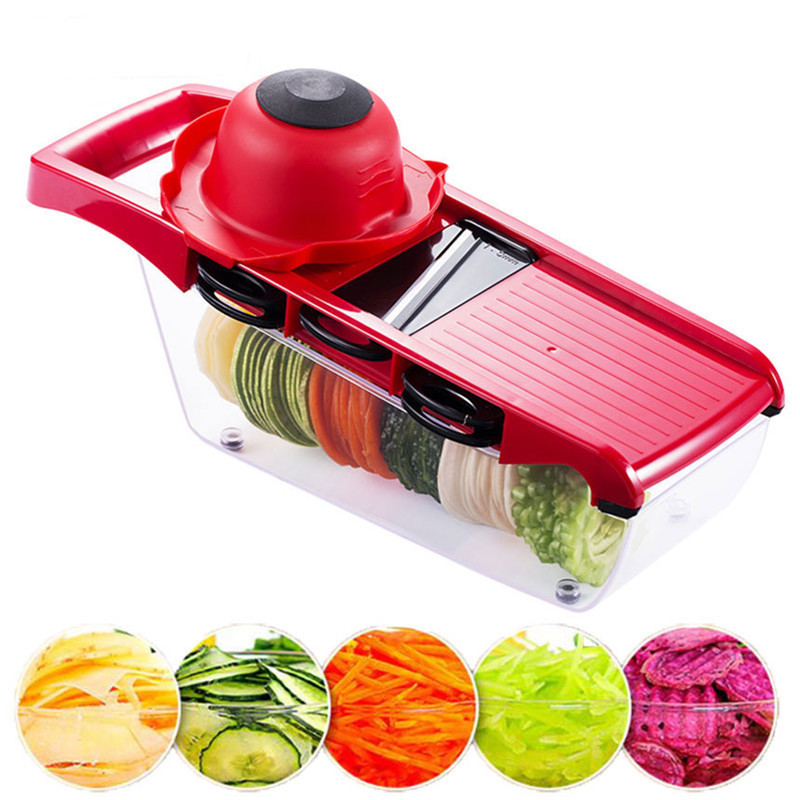 Plastic Vegetable Fruit Slicers Cutter With Adjustable Stainless Steel Blades Carrot Potato Onion Grater LXP17112403R