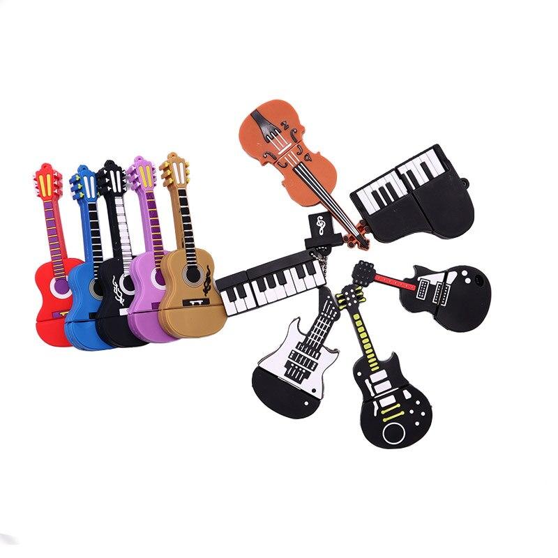 Hot Sale Musical Instrument Usb Flash Drive 4GB 8GB 16G 32GB 64GB Pen Drive Guitar/violin/piano Memory Stick Creative Pendrive