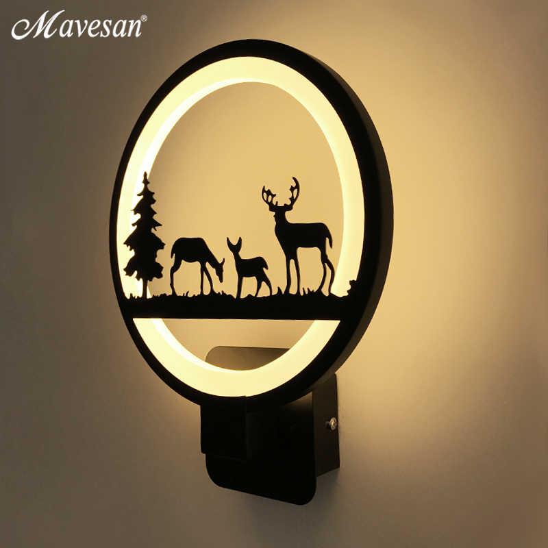 12W Black Acrylic Led Wall Light For Living Room Beside Room Luminarias LED Sconce Bathroom Wall Lamp led lustre Home Dero