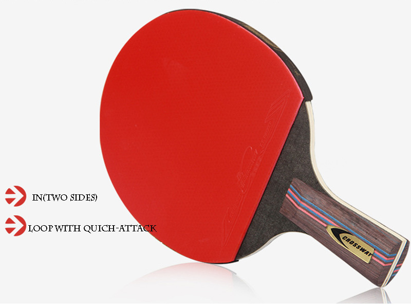 Table Tennis Racket Professional Horizontal Double Grip Ping Pong ...